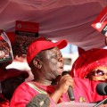 """God will not let us down"", says Tsvangirai during the launch of his party's manifesto in Marondera. (photo: M.Chibaya)."