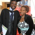 Charles Charamba with his wife Olivia Charamba after graduating with a Bachelor of Arts in Music (Jazz) at the Zimbabwe College of Music. (photo:M Chibaya).