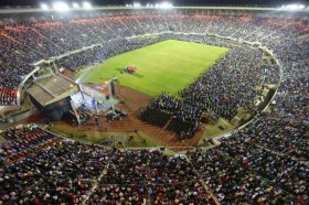 Tens of thousands thronged the giant National sports stadium for Prophet Emmanuel Makandiwa's Judgement Night.